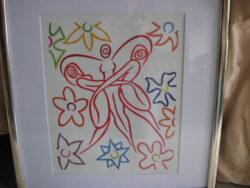 Donna Corbani Flower Power print, ingelijst en in goede staat.