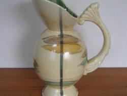 Vintage snavelkan schenkkan pastel sixties Belcium 1283, keramiek. Gaaf.