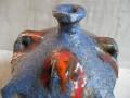 Vintage klei fat lava steengoed stoneware vaas jaren 70. Mogelijke Italiaanse of Duitse makelij. Onbeschadigd. Hoogte 34 cm.