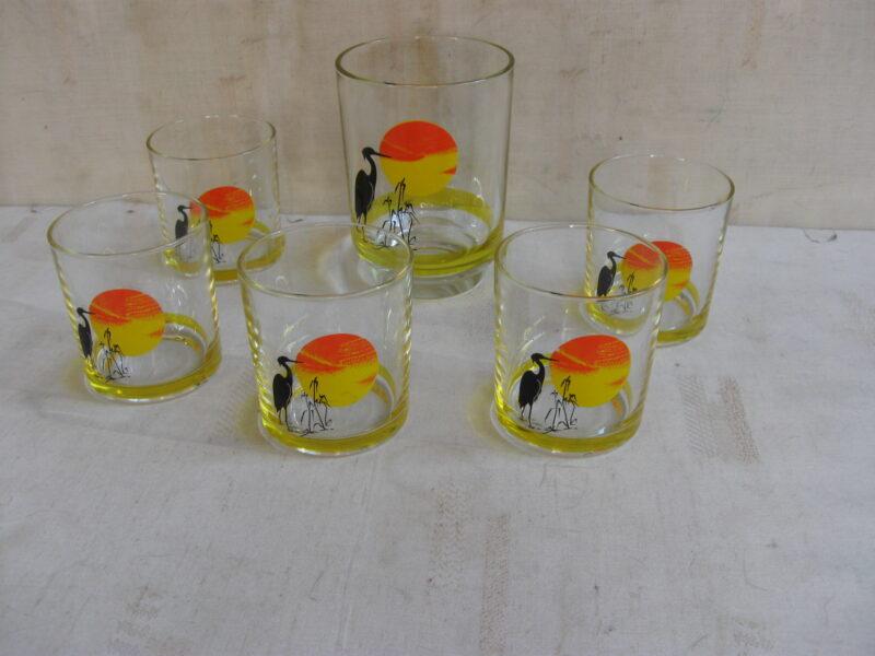 Vintage glas Italië jaren 70
