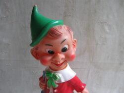 Pinokkio pieper jaren 60, made in Italy. In goede bespeelde staat.