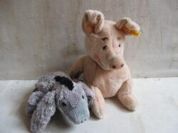 Steiff cosy ezel, Steiff cosy varken, nieuwstaat. Zacht hoge kwaliteit materiaal. Ideaal kinderspeelgoed.
