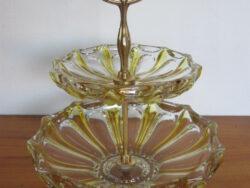 Vintage bonbonnière glas Val st. Lambert