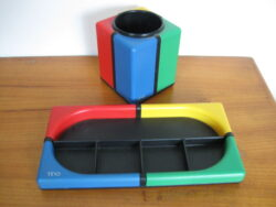 Tino TT design, Tino design, Tino design Wella production, vintage deskset, Tino TT design deskset, eighties deskset,