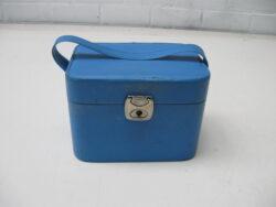 Vintage beautycase lichtblauw