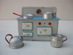 Vintage blikken speelgoed fornuisje jaren 60
