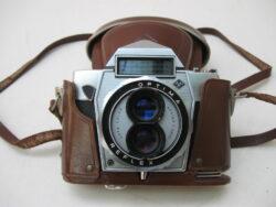 Agfa optima reflex camera 1959 met leren tas