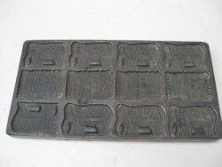 Vintage koekjesvorm metaal N.V. Vormenfabriek Tilburg