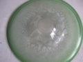 Copier tincraquele glazen schaal groen