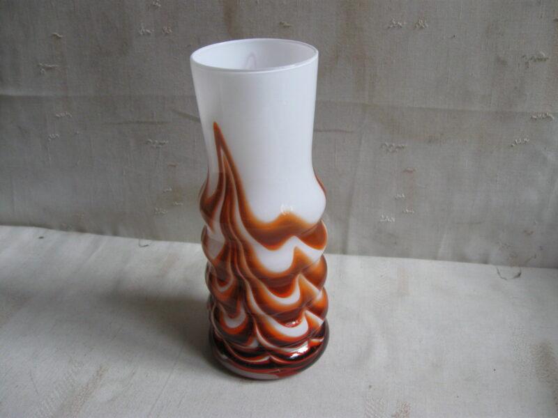 Murano vintage glazen vaas jaren 60 Italiaans vintage glas