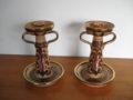 Deruta M. Sambuco keramiek kandelaars Italië