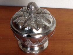 Djokja zilver suikerpot zonder lepel gemekt 800 MD