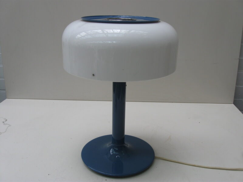 Design vintage tafellamp Zweden metaal met plastic jaren 70
