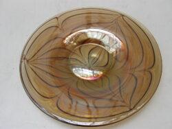 Vintage glazen fruitschaal
