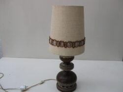 Vintage West-Germany keramiek tafellamp jaren 70