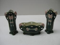 Art nouveau Jugendstil keramiek kaststel