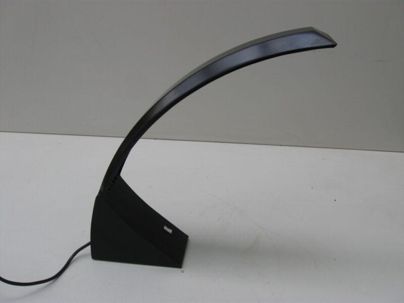 Vintage bureaulamp zwart plastic jaren 80 halogeen