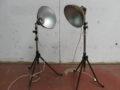 Vintage industriële fotograaf lampen Cito metaal jaren 60
