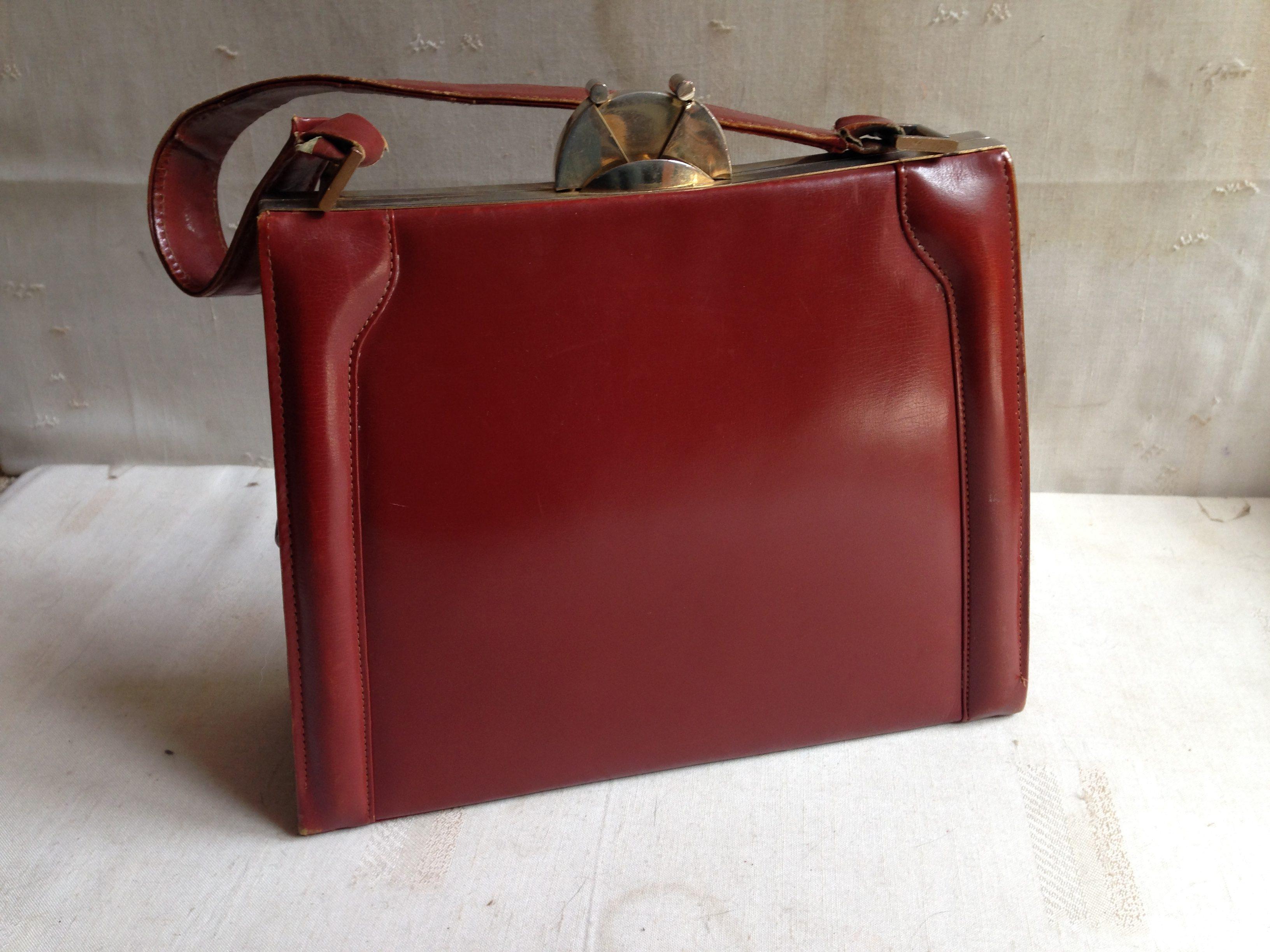 Art Deco Stijl : Vintage handtas leer art deco stijl jaren landzicht houtsberg