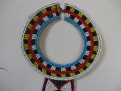 Afrikaans halssieraad kralen met leer