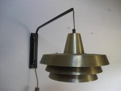 Vintage wandlamp metaal jaren 60-70
