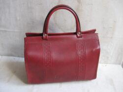 Vintage handtas, boodschappentas imitatieleer jaren 50-60