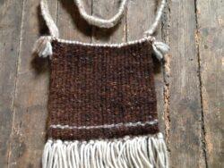 Schoudertas wol vintage stijl