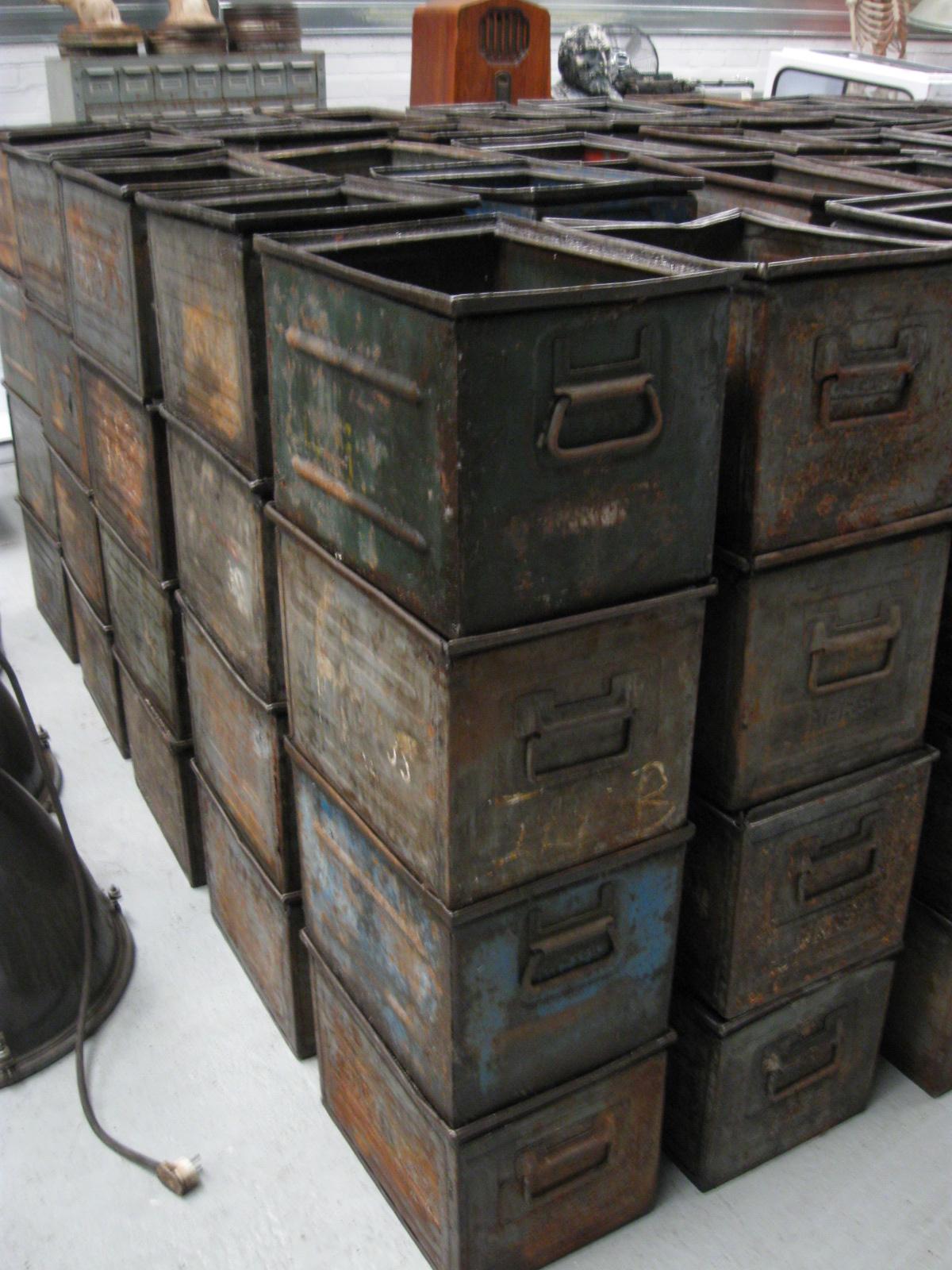 Fonkelnieuw industriele kisten ijzeren kist no 275 - Landzicht Houtsberg NU-64