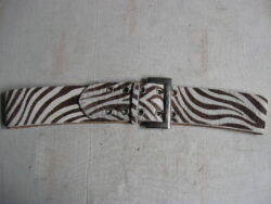 Angelo de Lombardie leren riem zebra print, zo goed als nieuw.