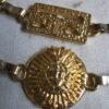 Vintage Egyptische stijl goud kleurige riem