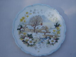 Royal Albert bone china England The cottage garden year series, Winter 1984 wandbordje.