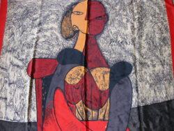Picasso sjaal vintage jaren 70. Goede vintage staat, zonder gaatjes of haakjes. Gesigneerd Picasso.