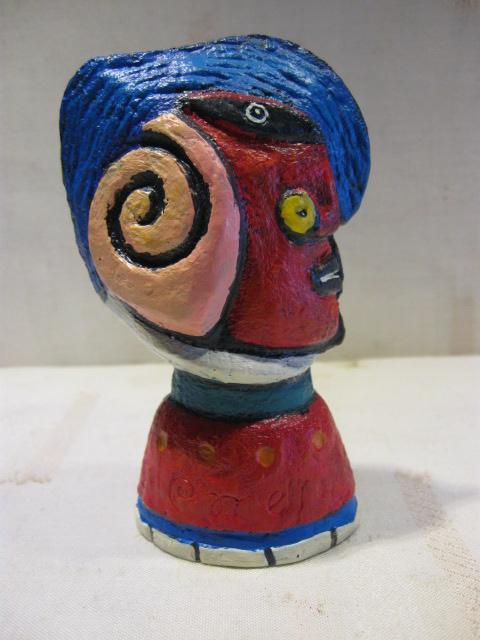 Clemens Briels flessenstop design, kunst. Gemaakt n.a.v. 10 jaar Fortis. Zonder doosje maar in goede staat. Gesigneerd