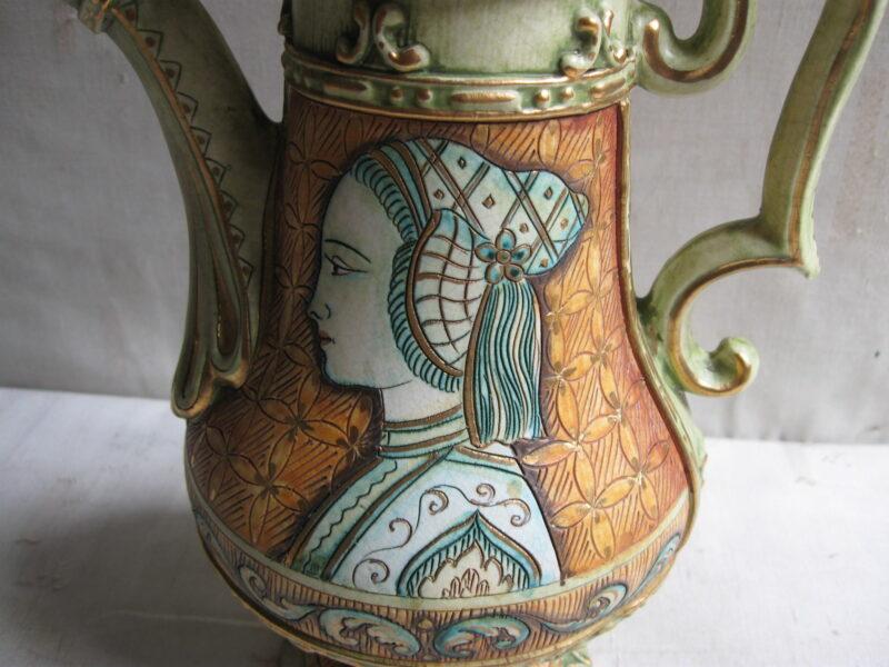 Italiaans keramiek, Deruta keramiek, Deruta Italië, Deruta vaas, Deruta Italiaans keramiek,