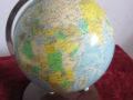 Räth staatkundige globe 1984, vintage globe, verlicht golbe