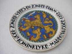 Mosa Maastricht wandbord Koninklijke Marechausse 1907-1932