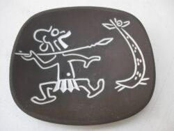 Ravelli wandbordje keramiek Afrikaanse krijger