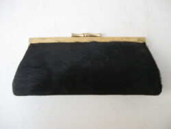 Vintage portemonnee bont zwart