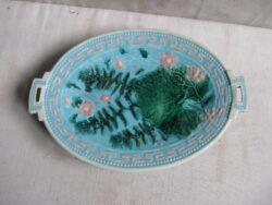 Majolica keramiek schaal op voet