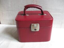 Vintage beautycase rood jaren 60