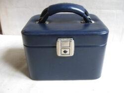 Vintage beautycase blauw jaren 60