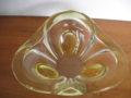 Vintage glazen fruitschaal jaren 60-70