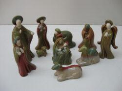 Kerst figuren voor in kerststal keramiek