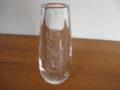 Orrefors glas vintage blank glazen vaasje met gegraveerde vogel