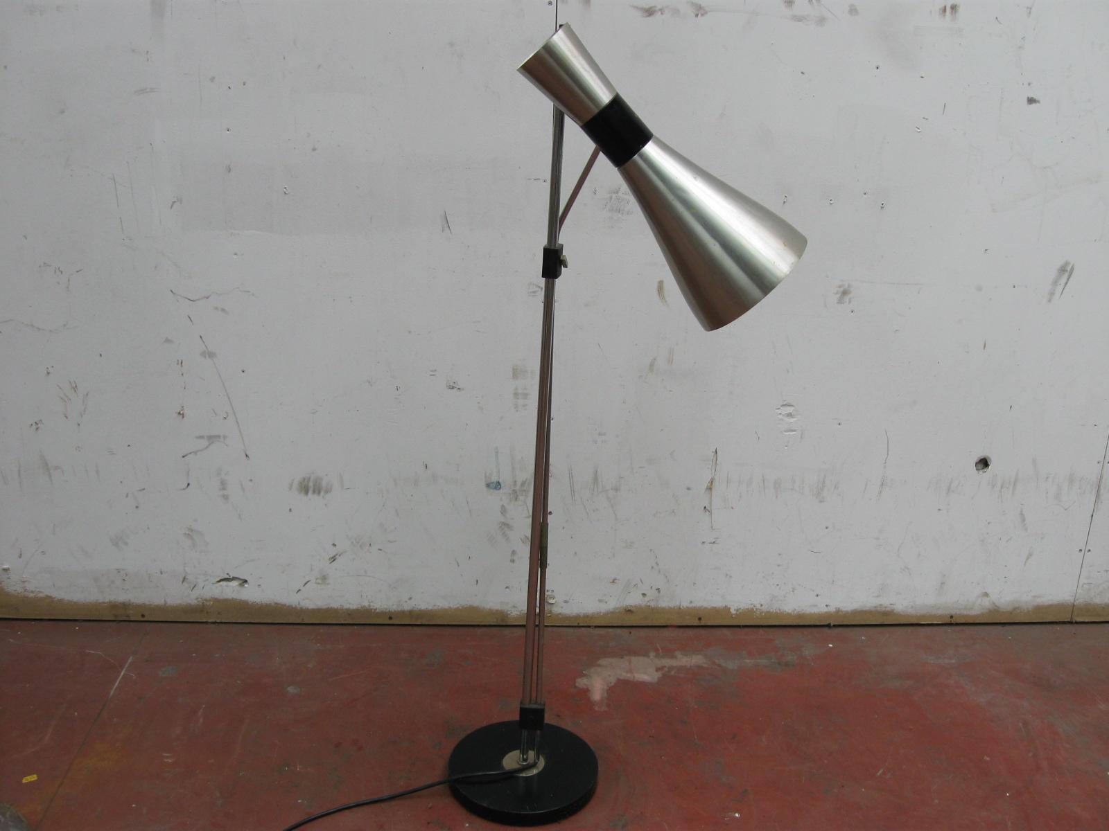 Welp Vintage staande lamp metaal jaren 60-70 - Landzicht Houtsberg JW-99