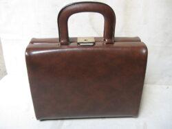 Vintage beautycase bruin jaren 60