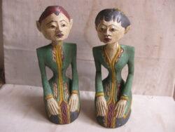 Indonesische beelden hout Asia-art man en vrouw