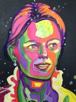 Modern art schilderij fluor gezicht van vrouw