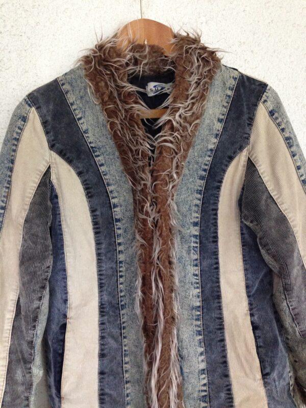 Winterjas dames vintage stijl maat 12