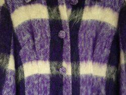 Vintage winterjas dames wol jaren 50/60 maat 36/38
